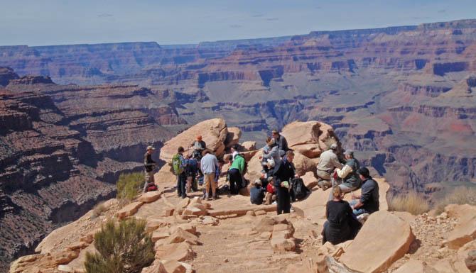 Guided Day Hiking Tours South Kaibab Grand Canyon Az