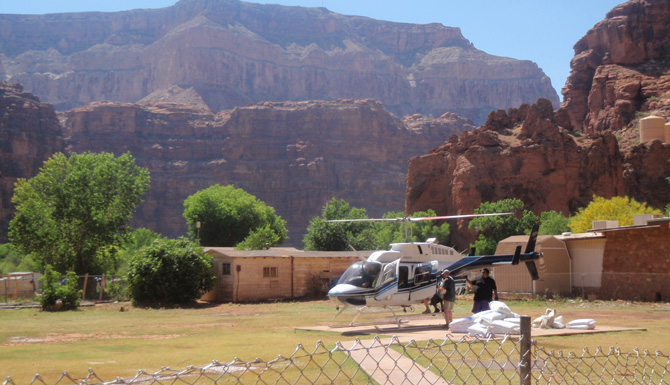 Havasupai Guided Helicopter Hiking Tours